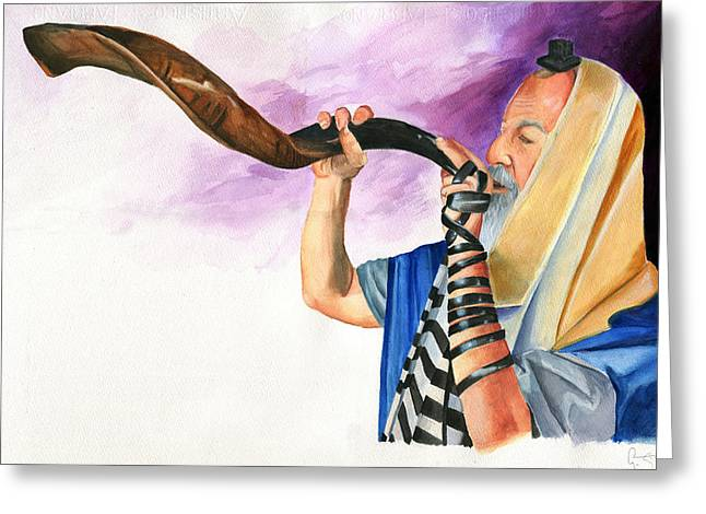 Dawnstarstudios Greeting Cards - Shofar II Greeting Card by Dawnstarstudios