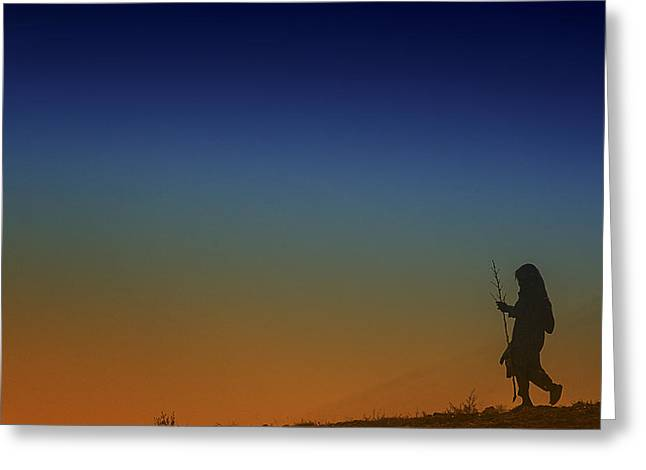 Conservative Greeting Cards - Shomali Valley Sunset Greeting Card by David Longstreath