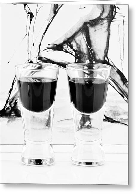 Sour Greeting Cards - Shoot glasses Greeting Card by Toppart Sweden
