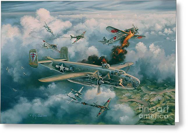 Air Plane Greeting Cards - Shoot-Out Over Saigon Greeting Card by Randy Green