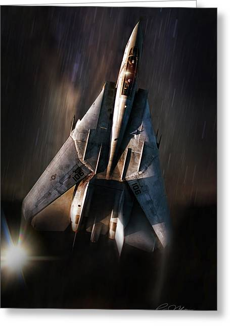 Gulf War Greeting Cards - Shooting Star Greeting Card by Peter Chilelli
