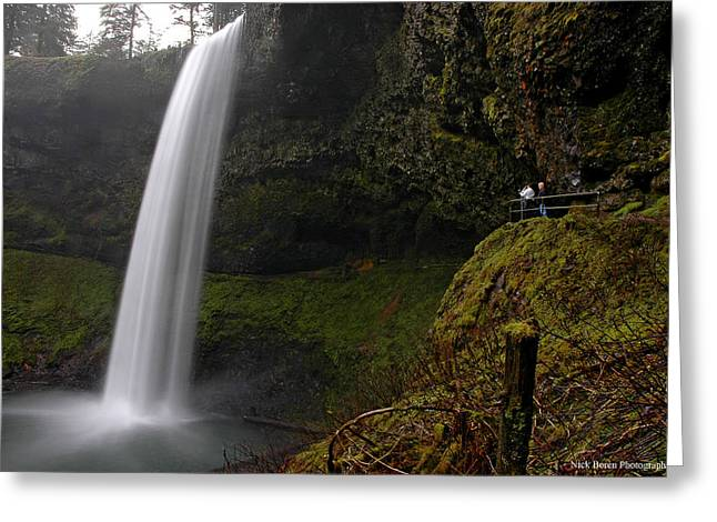 Shooting The Falls Greeting Card by Nick  Boren