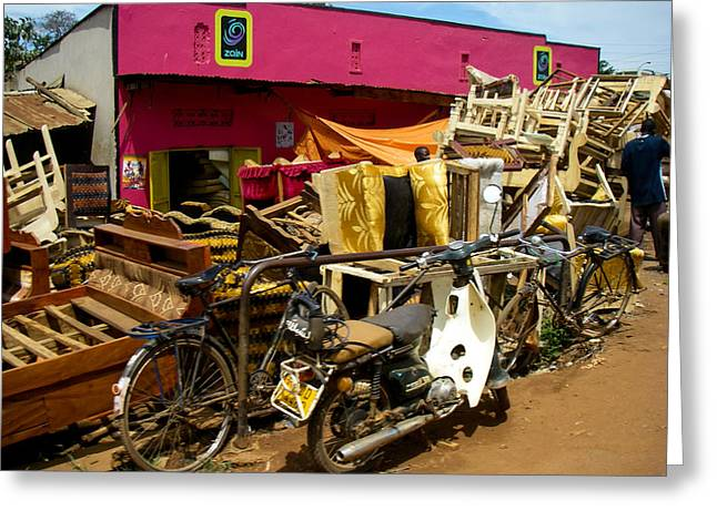 Geobob Greeting Cards - Shop and Junk for Sale Urban Fringe Kampala Uganda Central Eastern Africa Greeting Card by Robert Ford