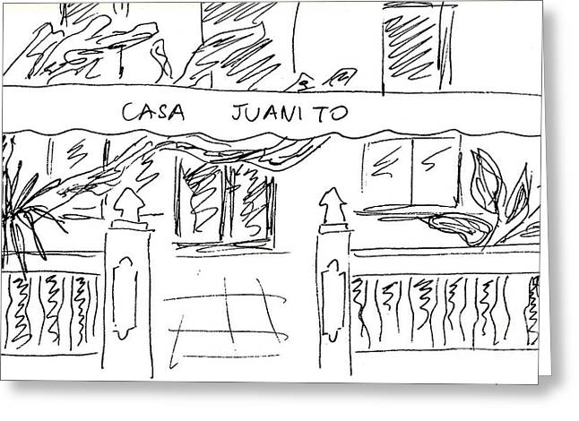 Shop Casa Juanito In Torremolinos Greeting Card by Chani Demuijlder