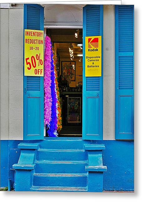 Entrance Door Greeting Cards - Shop New Orleans Greeting Card by Christine Till