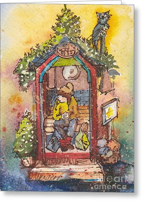 Whidbey Island Wa Greeting Cards - Shoppers Rest Stop Greeting Card by Judi Nyerges