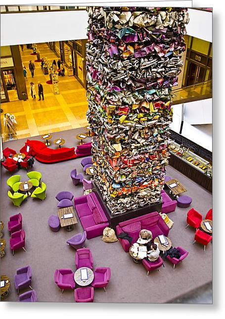 Berlin Germany Greeting Cards - Shopping Center Lobby - Berlin Greeting Card by Jon Berghoff