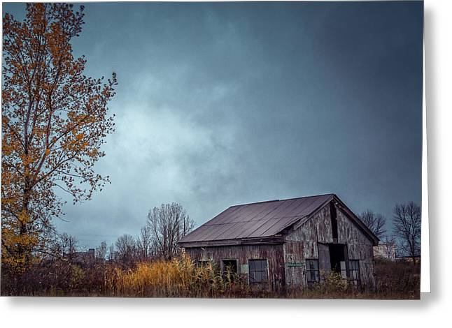 Rusty Tin Roof Greeting Cards - Shops Closed Greeting Card by Chris Bordeleau