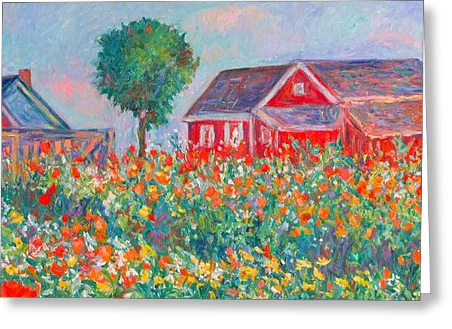 Impressionist Greeting Cards - Shore Flowers Greeting Card by Kendall Kessler