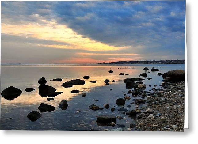 York Beach Greeting Cards - Shore Impressions Greeting Card by Diana Angstadt