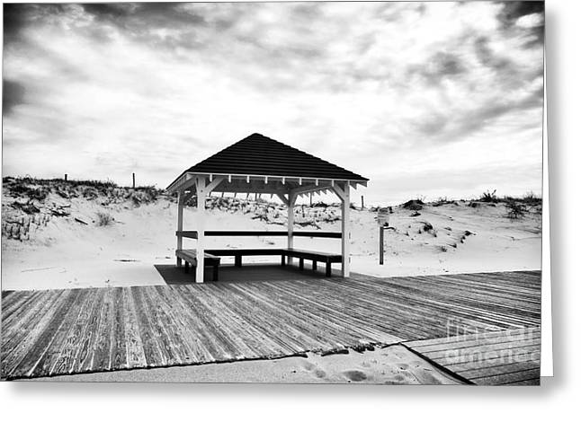 Down The Shore Greeting Cards - Shore Shelter Greeting Card by John Rizzuto