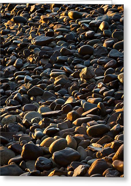 Stones Photographs Greeting Cards - Shore Stones Greeting Card by Steve Gadomski