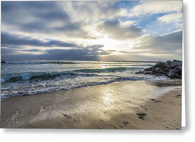 Images Of San Diego Greeting Cards - Shore View Greeting Card by Joseph S Giacalone