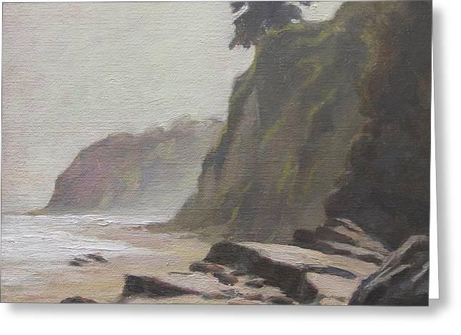 Shoreline Atmosphere Santa Barbara Greeting Card by Anna Rose Bain