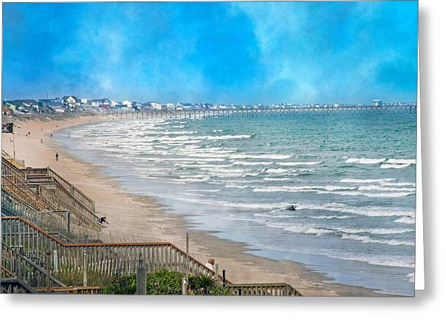 Nc Houses Greeting Cards - Shoreline  Greeting Card by Betsy A  Cutler