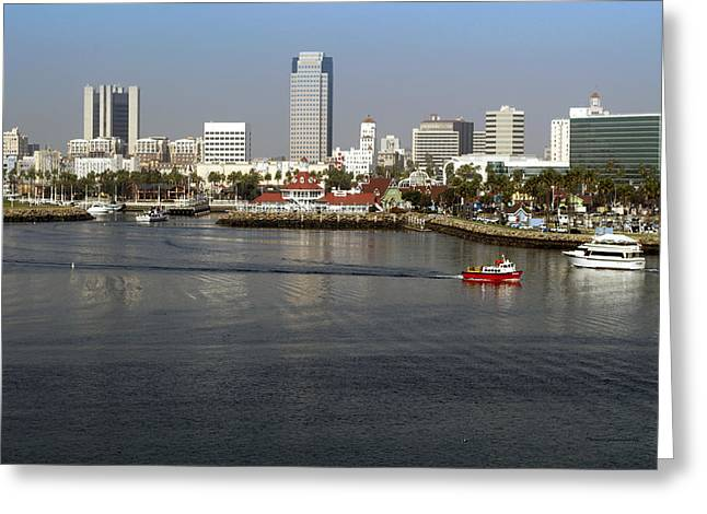 Queen Of The Sea Greeting Cards - Shoreline Long Beach CA 02 Greeting Card by Thomas Woolworth