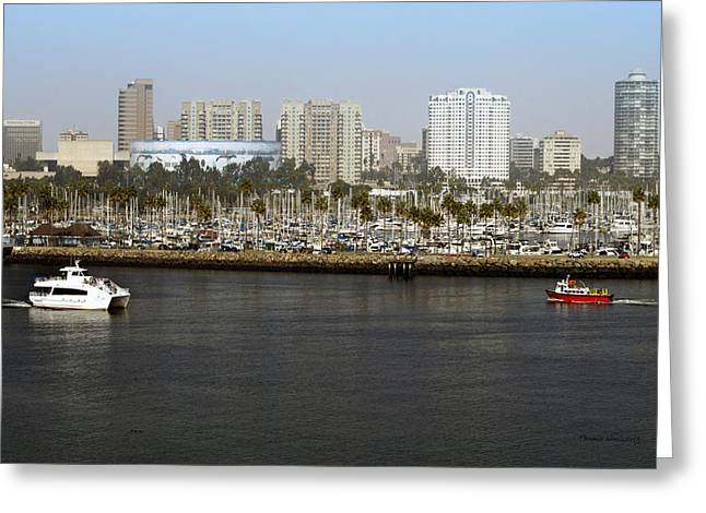 Queen Of The Sea Greeting Cards - Shoreline Long Beach CA 04 Greeting Card by Thomas Woolworth