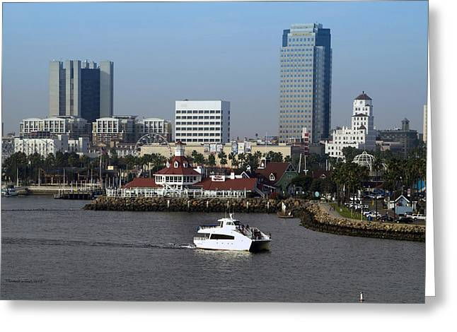 Down Town Los Angeles Greeting Cards - Shoreline Long Beach CA 07 Greeting Card by Thomas Woolworth