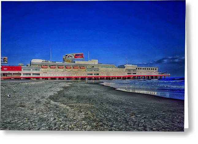 Casino Pier Greeting Cards - Shoreline of Atlantic City Greeting Card by Mountain Dreams