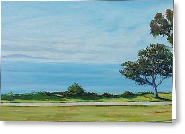 Ocean Vista Greeting Cards - Shoreline Park Santa Barbara Greeting Card by Jeffrey Campbell