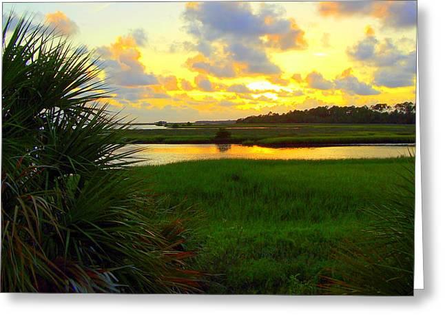 Shoreline Sunset 2 Greeting Card by Sheri McLeroy