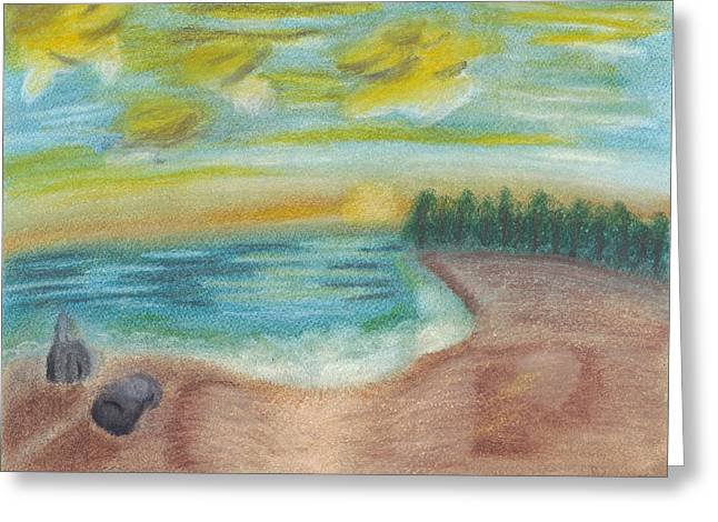 Susan Schmitz Greeting Cards - Shoreline Greeting Card by Susan Schmitz