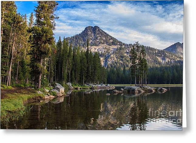 Haybales Greeting Cards - Shoreline View Of Anthony Lake Greeting Card by Robert Bales