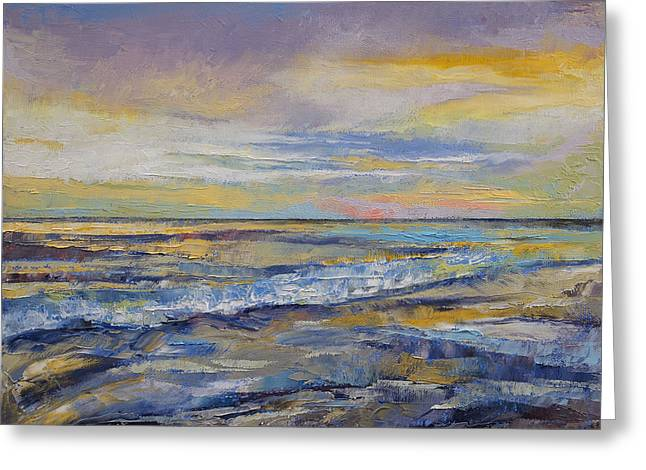 Abstract Wave Greeting Cards - Shores of Heaven Greeting Card by Michael Creese