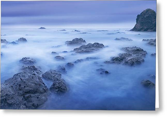 Panoramic Ocean Greeting Cards - Shores of Neptune - CraigBill.com - Open Edition Greeting Card by Craig Bill