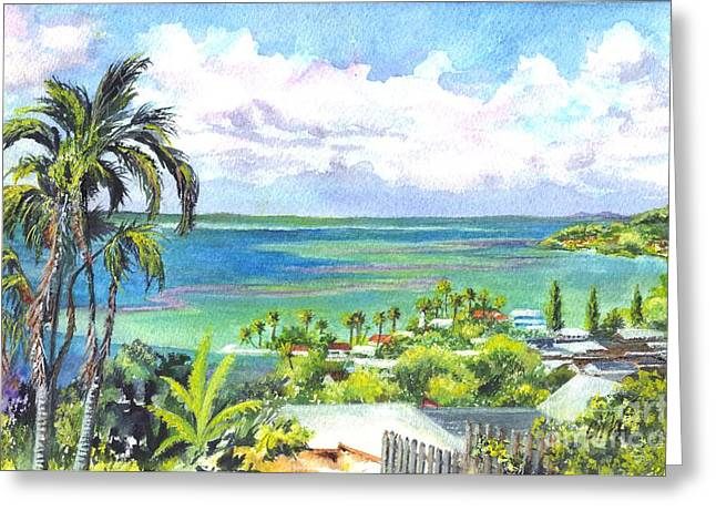 Pacific Ocean Prints Greeting Cards - Shores of Oahu Greeting Card by Carol Wisniewski