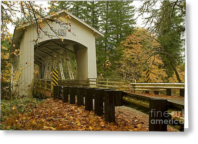 Boren Greeting Cards - Short Covered Bridge Greeting Card by Nick  Boren