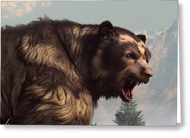 Short Faced Bear Greeting Card by Daniel Eskridge