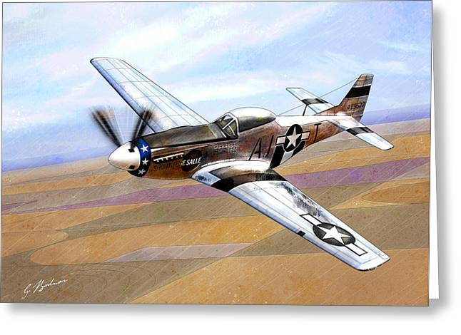 Plane Art Greeting Cards - Short-Fuse Sallee Greeting Card by Gary Bodnar