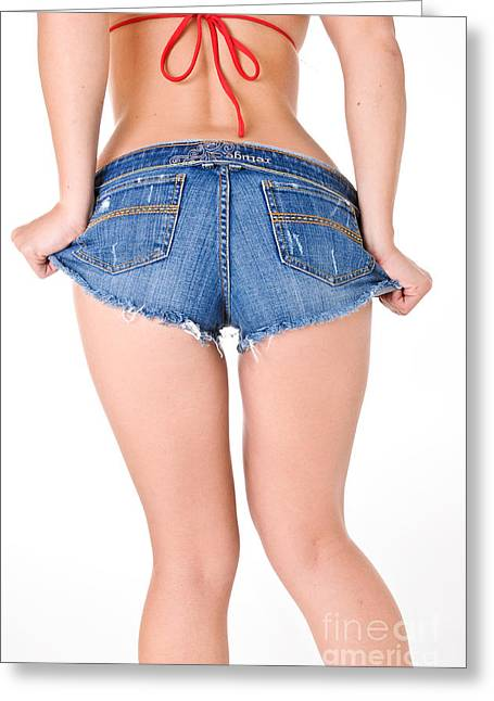 Butt Cheeks Greeting Cards - Short Shorts Greeting Card by Jt PhotoDesign