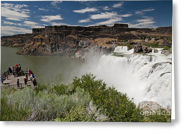 Idaho Scenery Greeting Cards - Shoshone Falls & Overlook Idaho Greeting Card by William H. Mullins