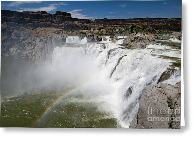 Idaho Scenery Greeting Cards - Shoshone Falls Idaho Greeting Card by William H. Mullins