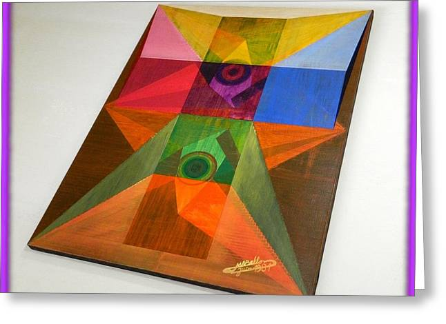 Cabbalism Greeting Cards - Shot Shift - Salut 2 Greeting Card by Michael Bellon