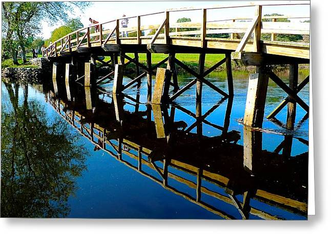 Concord Greeting Cards - North Bridge on the Concord Greeting Card by Dwight Pinkley