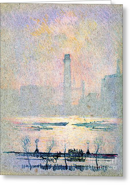 Shot Tower From Embankment 1880 Greeting Card by Padre Art