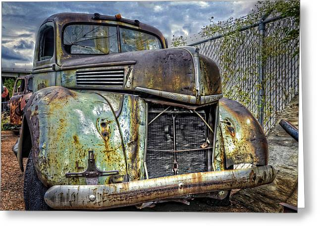 Old Trucks Greeting Cards - Should of Had a V8 Greeting Card by Ken Smith