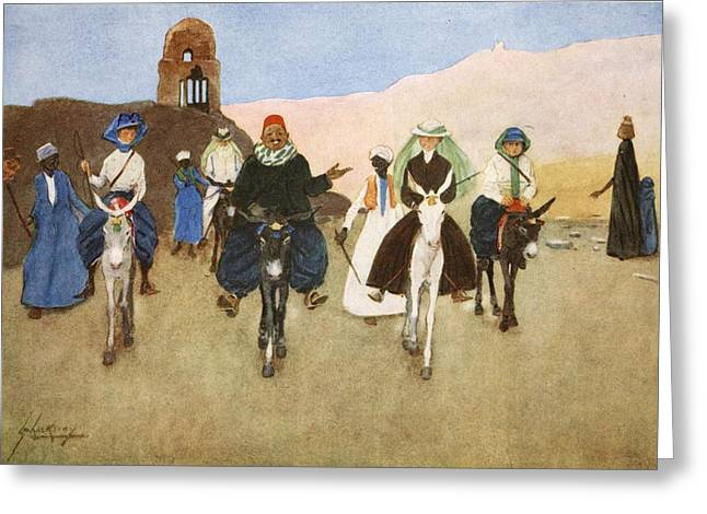 Donkey Greeting Cards - Should Women Ride Astride?, From The Greeting Card by Lance Thackeray