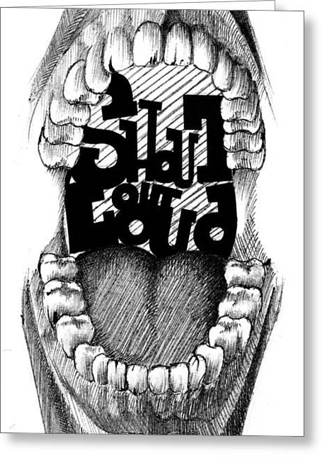 Nice Teeth Greeting Cards - Shout out loud Greeting Card by Nils Leemans
