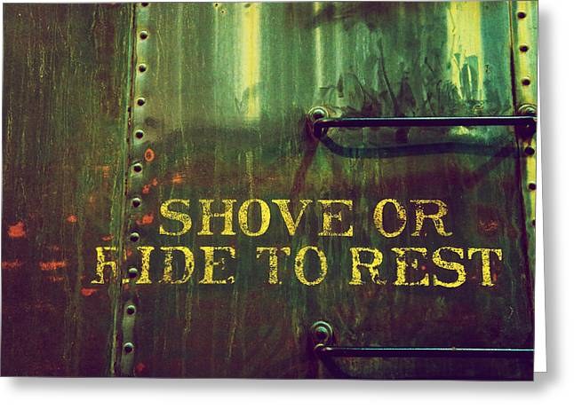 Paint Photograph Greeting Cards - Shove or Ride Greeting Card by Brandon Addis