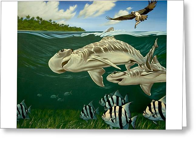 Philip Slagter Paintings Greeting Cards - Shovelnose  Greeting Card by Philip Slagter