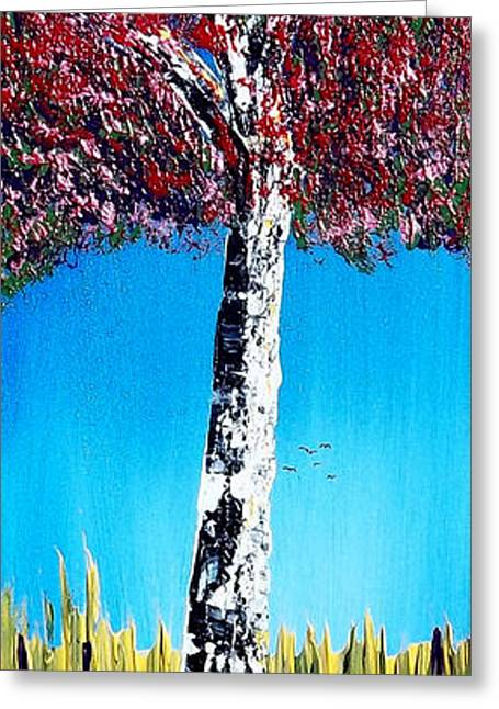 Pallet Knife Greeting Cards - Show Me The Color Greeting Card by Peter Stevenson