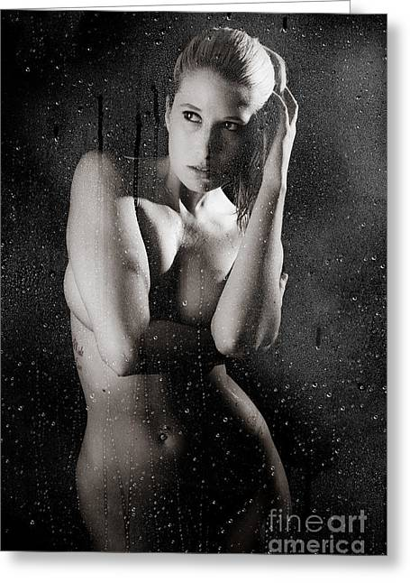 Steam Bath Greeting Cards - Shower B Greeting Card by Jt PhotoDesign