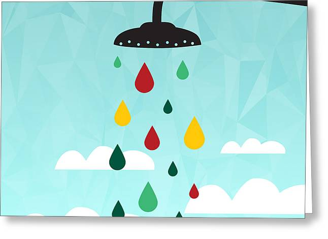 Shower  Greeting Card by Mark Ashkenazi