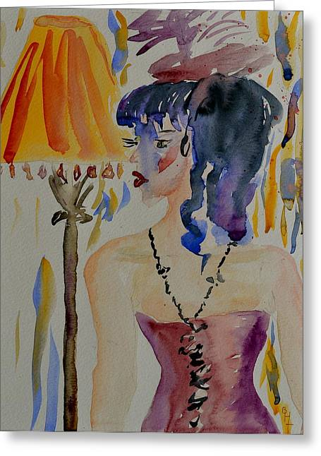 Clothed Figure Greeting Cards - Showgirl Greeting Card by Beverley Harper Tinsley
