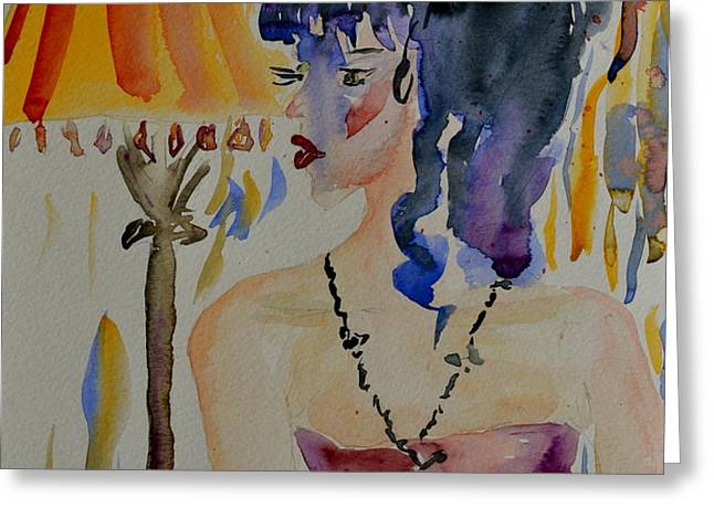 Showgirl Greeting Card by Beverley Harper Tinsley
