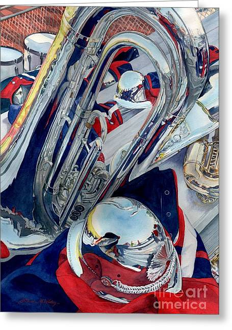 Marching Band Greeting Cards - Shows Over Greeting Card by Lorraine Watry